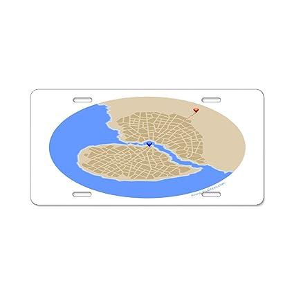 Amazon.com: KuyuqudGVg Broken Heart City License Plate Frame ...