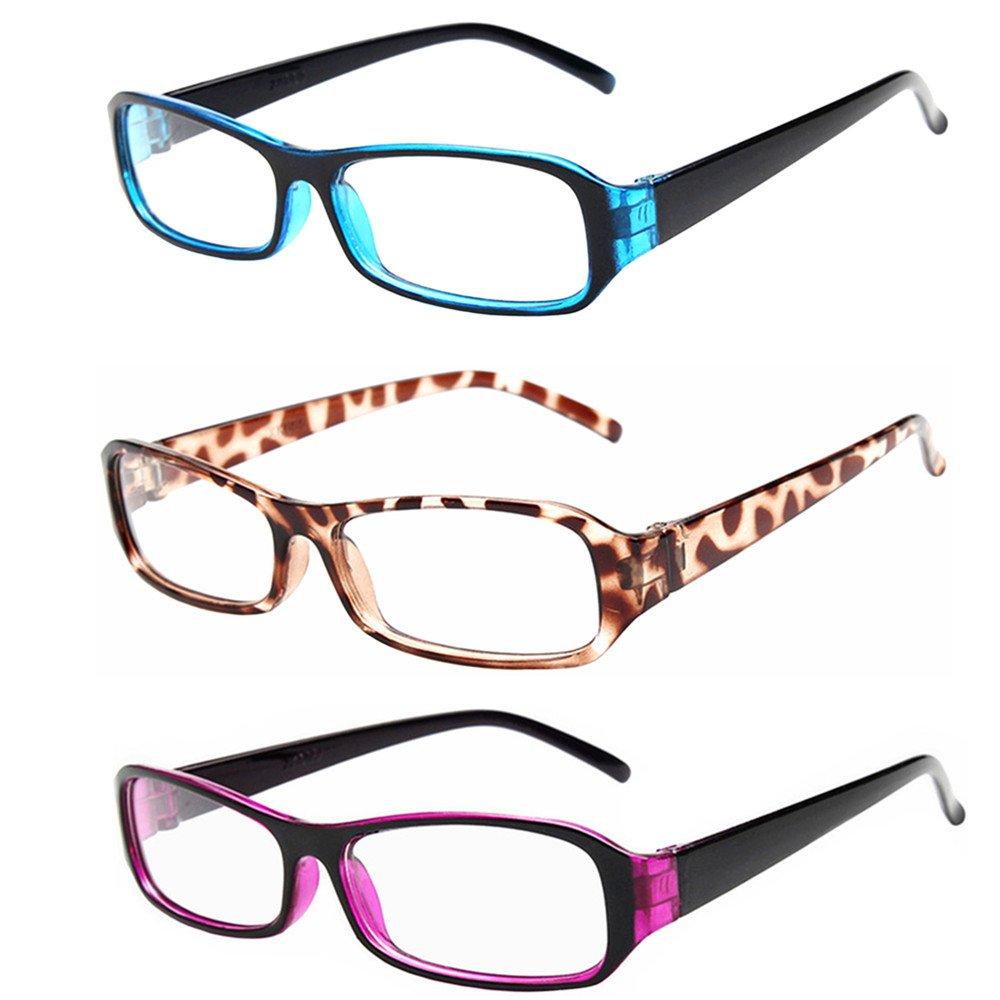 FancyG® Vintage Inspired Classic Rectangle Glasses Frame Eyewear Clear Lens 3 Pieces Set 27 C-A-REC2-3SET27