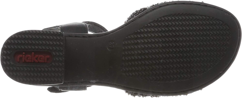 Rieker Damen 64689-00 Geschlossene Sandalen