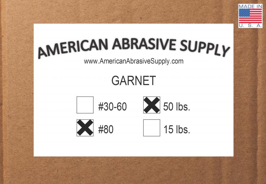 Garnet #80 Grit Blasting Abrasive (55 lbs.)