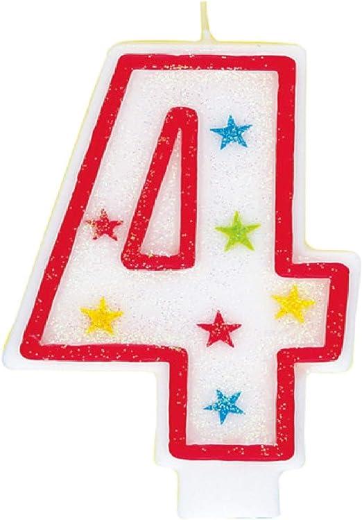 Fine Amazon Com Glitter Number 4 Birthday Candle Happy Birthday Cake Personalised Birthday Cards Epsylily Jamesorg