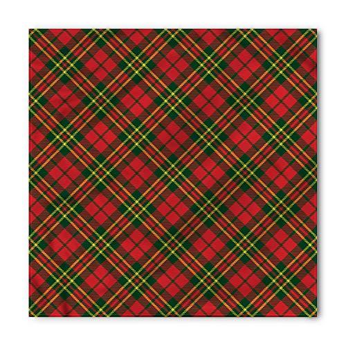 Ambesonne Checkered Bandana, Irish Tartan Xmas, Unisex Head and Neck Tie