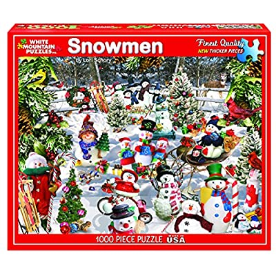 White Mountain Puzzles Snowmen - 1000 Piece Jigsaw Puzzle: Toys & Games