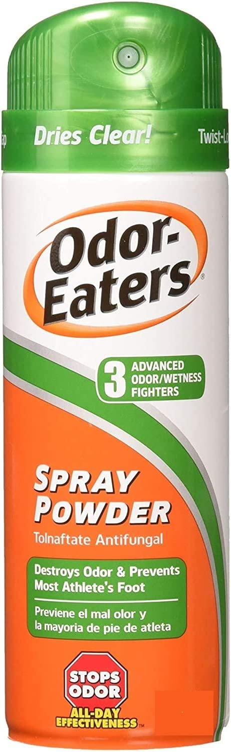 Odor-Eaters Foot Spray Powder, 5.3oz, Pack of 2 (Package May Vary)