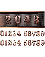 House Address Plaques Plastic Address Sign Mailbox Number Plaque 0-9 European-style Retro Doorplate Address Signs Decorative Wall Plaque for House Home Hotel Office Garden (Simple Style)