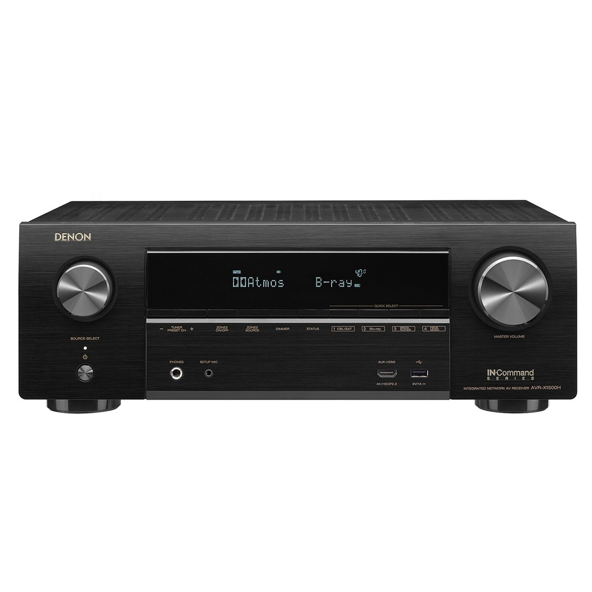 Denon AVR-X1500 Receiver 4K Ultra HD Video Home Theater Dolby Surround Sound (Renewed)