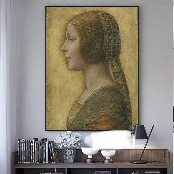 SQSHBBC La Bella Principessa Lienzo Pinturas de Leonardo Da Vinci ...