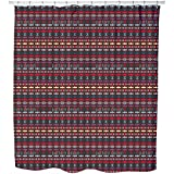Uneekee Ethno Deco Shower Curtain: Large Waterproof Luxurious Bathroom Design Woven Fabric