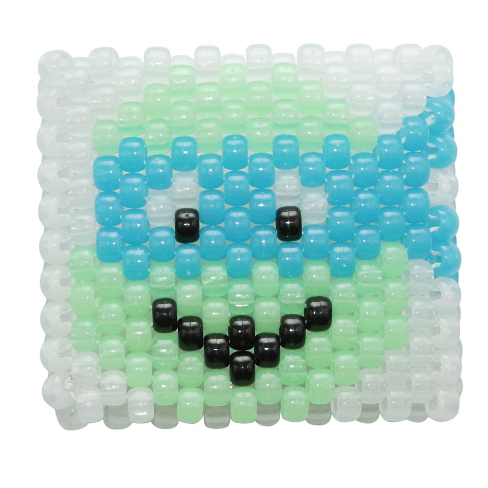 Leonardo TMNT Ninja Turtles Glow In The Dark Kandi Cuff by Kandi Gear
