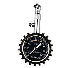 Tire Pressure Gauge(100 PSI) With Pressure Release Valve Best for Reading Accurate Car Truck Motocycle TiresPremium Robbor Tire Gauge