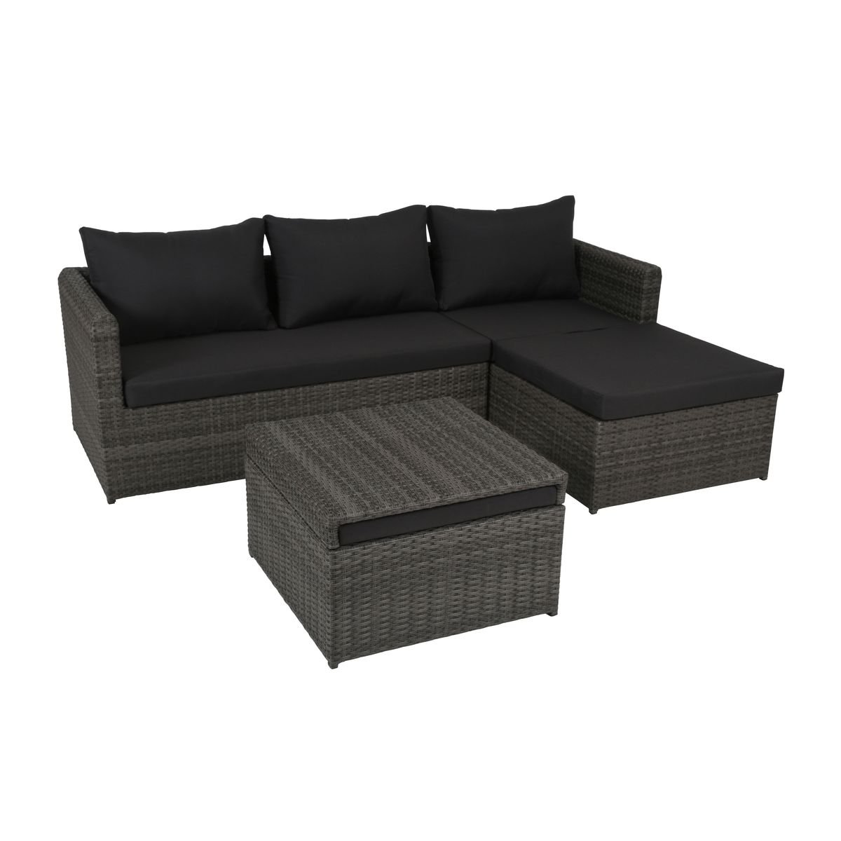 Rattan sofa outdoor  greemotion Rattan-Lounge Ibiza - Gartenmöbel-Set 3-teilig aus ...