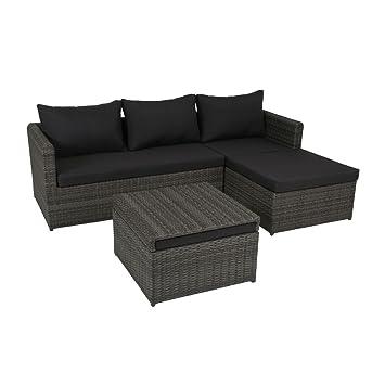 Amazon.de: greemotion Rattan-Lounge Ibiza - Gartenmöbel-Set 3-teilig ...