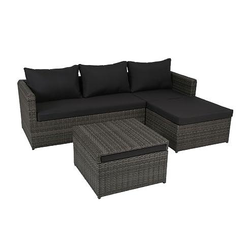 Rattan lounge anthrazit  Amazon.de: greemotion Rattan-Lounge Ibiza - Gartenmöbel-Set 3 ...