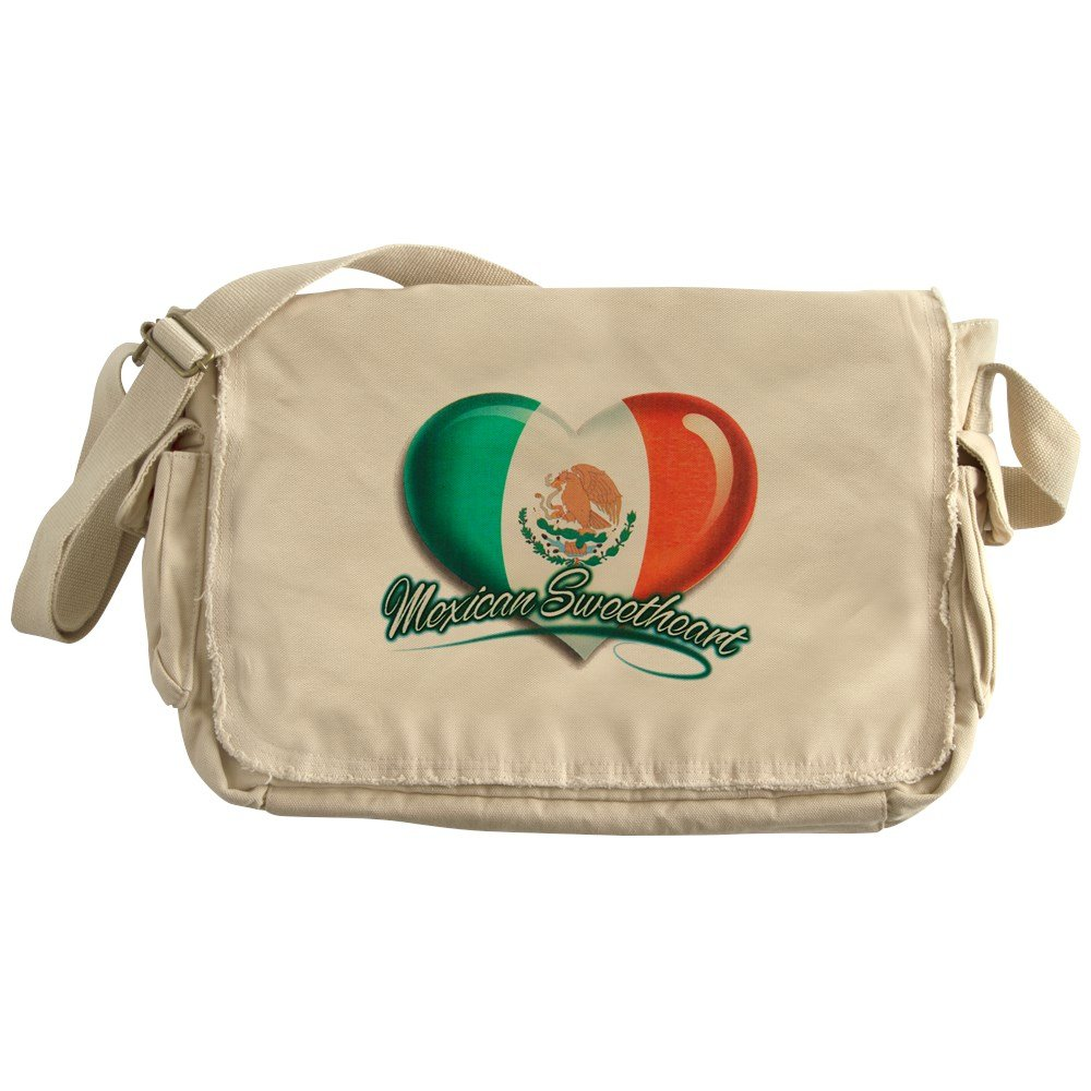 Royal Lion Khaki Messenger Bag Mexican Sweetheart Mexico Flag