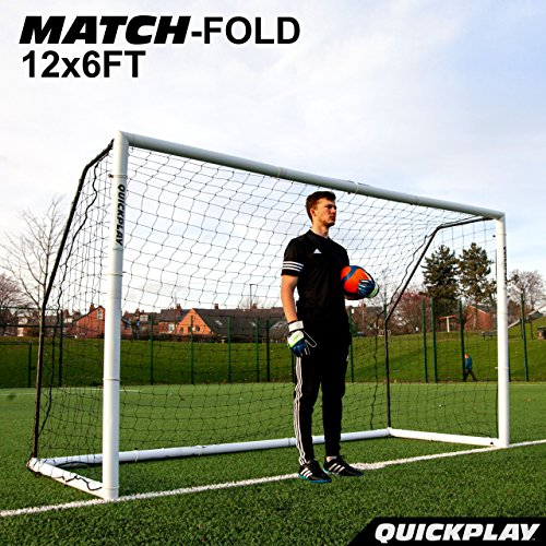 QuickPlay Match-Fold Soccer Goal (12x6') with 2YR WARRANTY