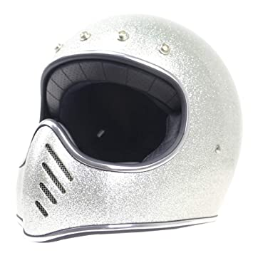 Shfmx Casco de la Cara Completa de la Motocicleta Adulta, Dot Certificado Retro Full Face
