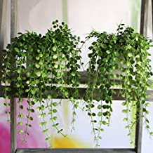 Kicode Artificial plants Wall Decoration Outdoor Atificial Fake Hanging Vine Plant Leaves