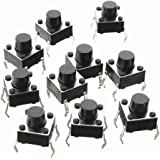 6x6x6mm Momentary Push Button Switch 10 pack - 4Pin DIP Micro PCB tactile by Corpco