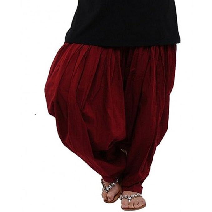 07424bd911 Ekam Art Men's Cotton Patiala Salwar(PS 17, Maroon, Large): Amazon.in:  Clothing & Accessories