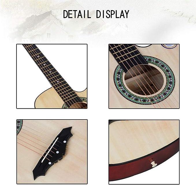 NUYI-4 Genuino 38 Pulgadas Guitarra acústica Guitarras acústicas ...