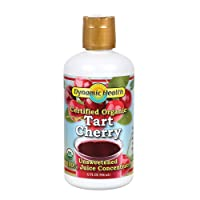 Dynamic Health Organic Tart Cherry Juice Concentrate | 100% Pure | 32 Servings