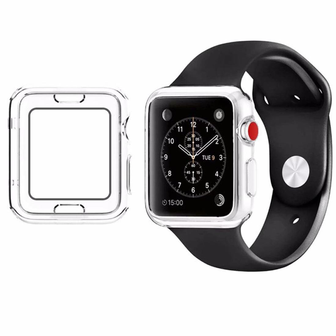 For Apple Watch Series 3 38mm, Gotd Ultra-Slim Clear TPU Protect Case Cover For Apple Watch Series 3 38mm (Transparent)