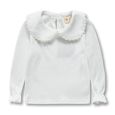 3f5a560ef030 Amazon.com  Baby Girls Blouses Kids   Toddler Girl Bottoming Tshirt ...