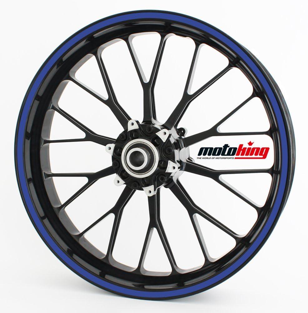 Motoking Felgenrandaufkleber 360/° GL/ÄNZEND//ganzer Kreis//f/ür 15 bis 18 Farbe /& Breite w/ählbar