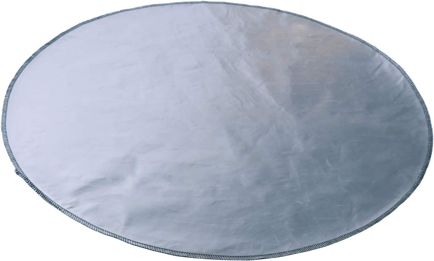 Lawn Deck Patio Outdoor or Campsite Protection Ember Mat Pad Silver 24/'/'x24/'/' Uterstyle Fire Pit Mat Round Grill Mat for Ground