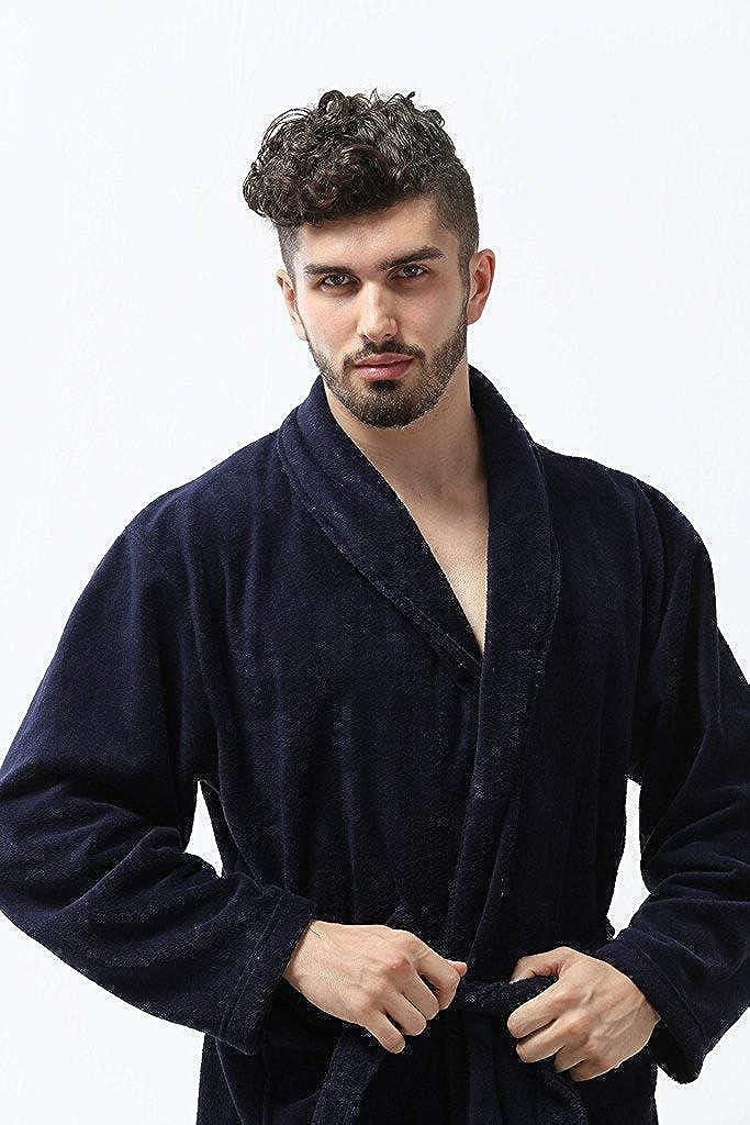 Pembrook Men/'s Robe Soft Fleece Adults Men Boys Kimono Hotel Spa Bathrobe