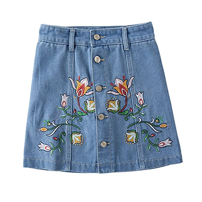 746bf56da Pantalones Cortos Mezclilla Bordados Florales Pantalones Cortos Los  Pantalones Vaqueros Azules Los Pantalones Vaqueros del Verano Las Mujeres  Mediados ...