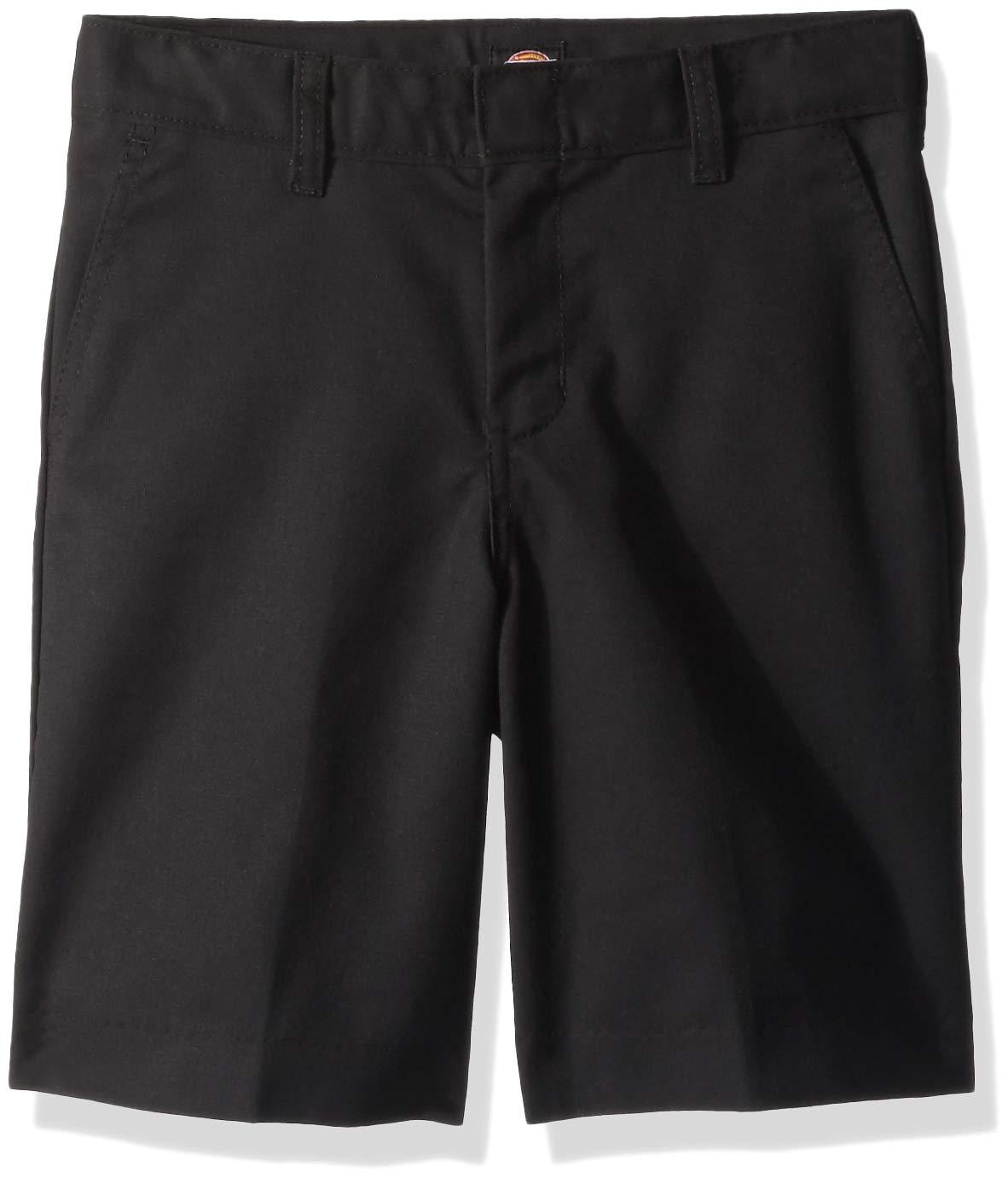 Dickies Kids Big Boys Flexwaist Flat Front Short, Black, 12