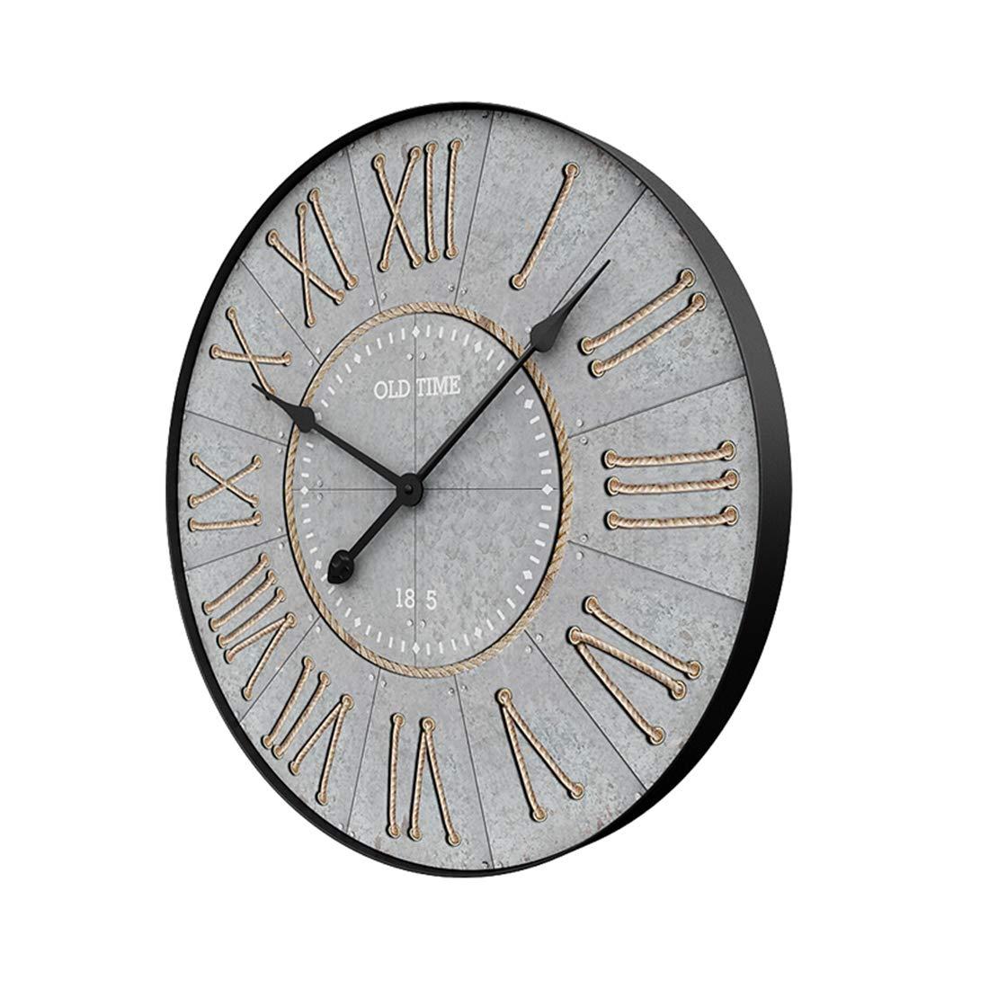 NFtop Antike Wanduhr groß Wanduhr Ohne Tickgeräusche Wanduhr Vintage Wanduhr Lautlos Wanduhr Dekorative für Wohnzimmer, Schlafzimmer, Küche, Büro