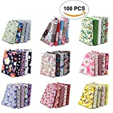 cloth material for sewing - 100PCS BcPowr 10 x 10cm Different Pattern Fabric Patchwork Craft Cotton DIY Sewing Scrapbooking Quilting Dot Pattern