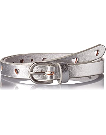 fa62acdd8 Carter's Toddler Girls Adjustable Perferated Heart Belt, silver, 2-5 years