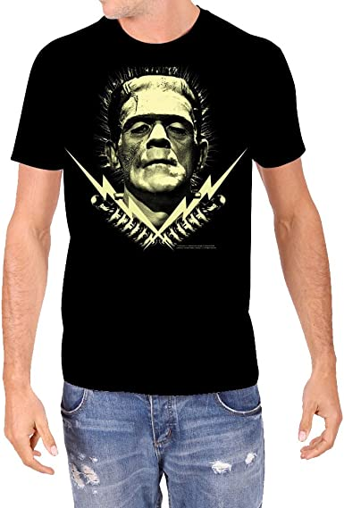 Rock Rebel - Camiseta para hombre, diseño de monstruos Frankenstein, color negro - Negro - Small: Amazon.es: Ropa y accesorios