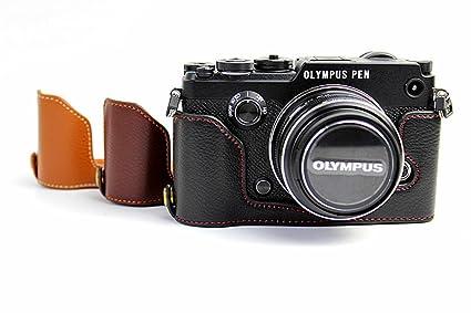 Zakao - Funda para cámara de fotos (piel auténtica, apertura media ...