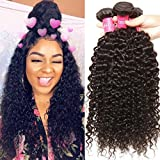 Malaysian Hair 4 Bundles, Longqi Beauty hair Malaysian Curly Remy Hair 4pcs Set 100% Unprocessed Human Bundles (# 18 20 22 24inch, Natural Color) Review