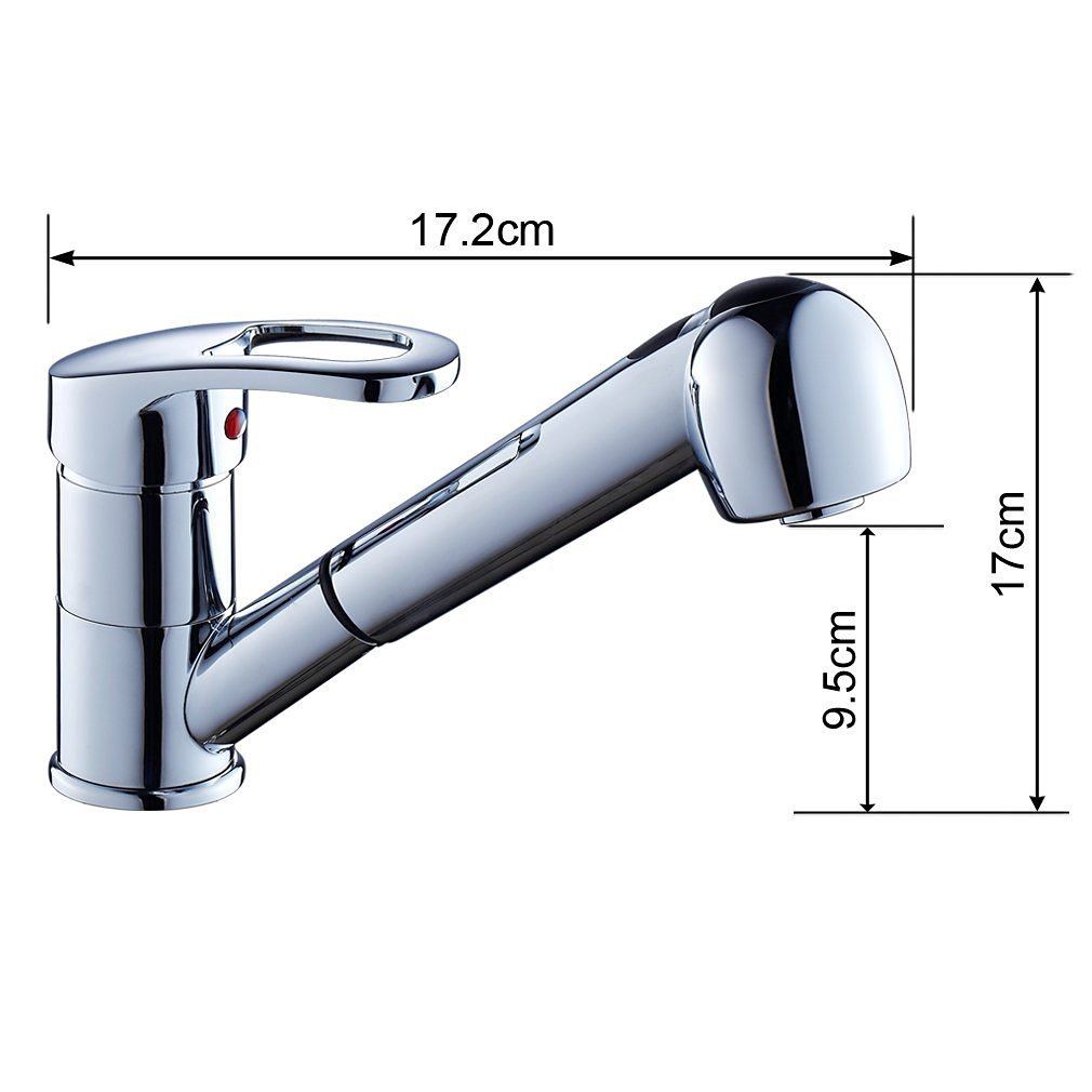 Hochdruck Einhebel Küchenspüle Wasserhahn mit ausziehbarer Brause ...