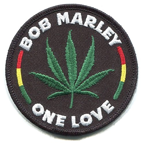 BOB Marley one Love/Hemp Leaf Embroidered Iron-ON Patch
