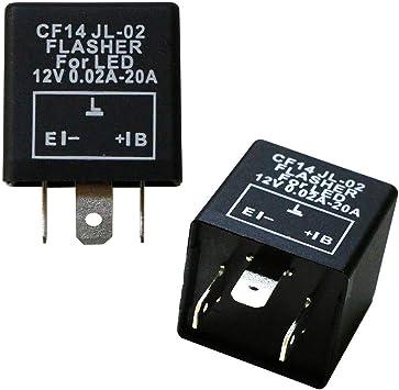 3 Pin Upgrade Fully Electronic LED Flasher Hazard Relay