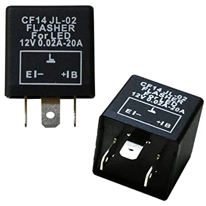 amazon com: ijdmtoy (1) 3-pin cf14 ep35 electronic led flasher relay for  led related turn signal bulbs hyper flash fix: automotive