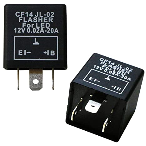 iJDMTOY (1) 3-Pin CF14 EP35 Electronic LED Flasher Relay For LED Related on led flasher wiring diagram, led electronic flasher wiring, led flasher relay schematic, 3 prong turn signal flasher wiring,