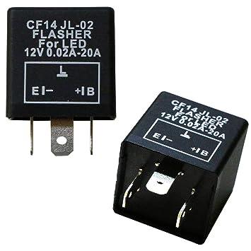 3-Pin CF14 JL-02 EP35 Car LED Flasher Relay Fix Turn Signal Hyper Flash 12V  AU