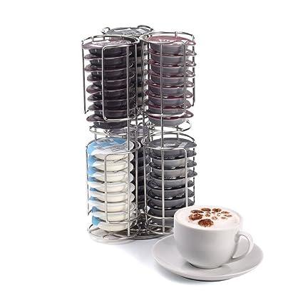 Kabalo Acero inoxidable 48 Café vaina de la cápsula del soporte y del dispensador de Tassimo