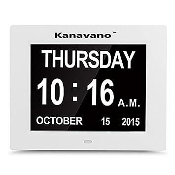 KanavanoVersión actualizada Reloj digital de pared - Reloj despertador - Reloj LED de cocina - Reloj