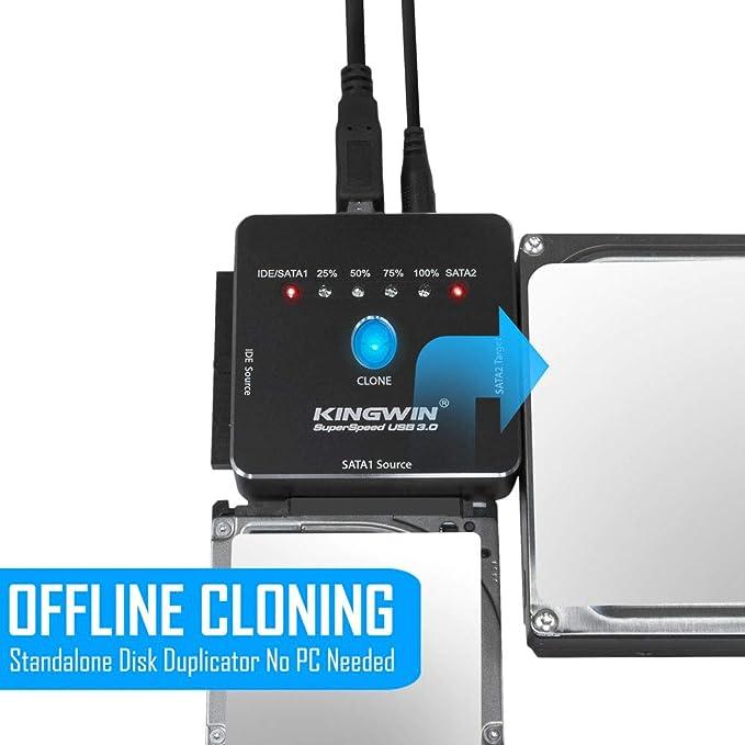 Amazon.com: Kingwin adaptador USB a SATA, Negro: Computers ...