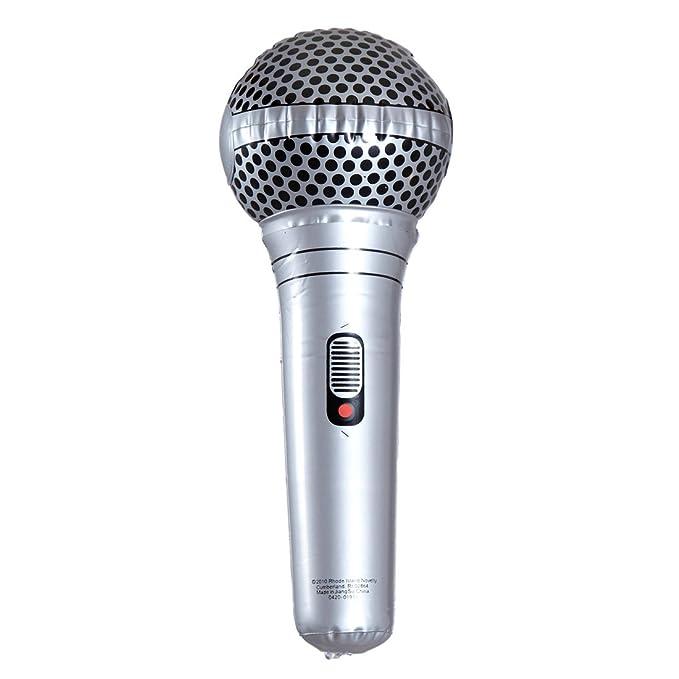 2x Aufblasbares Mikrofon Mikrofone Mikro Mikrophon Microphone Luft Micro 100 cm