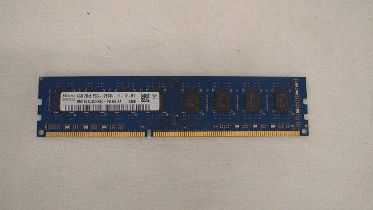 Hynix 4GB PC3-12800 DDR3- 1600MHz non-ECC Unbuffered CL11 240-Pin DIMM HMT351U6CFR8C-PB