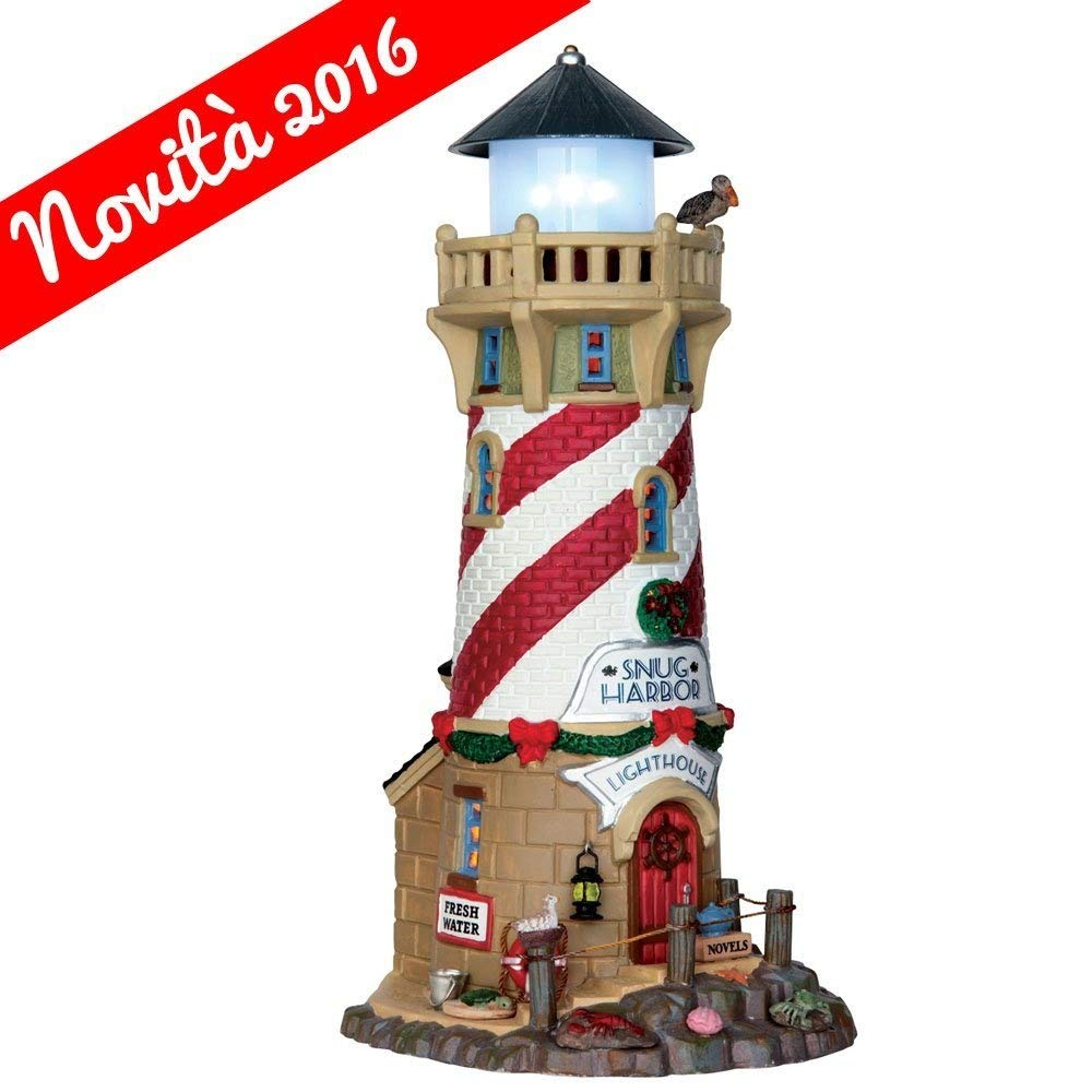 LEMAX FARO PER NAVI - SNUG HARBOR LIGHTHOUSE COD 65163 VILLAGE